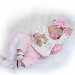 "20"" Lifelike Reborn Newborn Baby Doll Full Silicone Vinyl Ba"