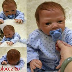 "20"" Newborn Reborn Lifelike Baby Silicone Vinyl Baby Boy Dol"
