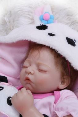 "20""Reborn Baby Doll Lifelike Newborn Vinyl Silicone Girl Dol"