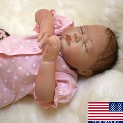 "20"" Reborn Baby Handmade Newborn Doll Girl Lifelike Vinyl Si"