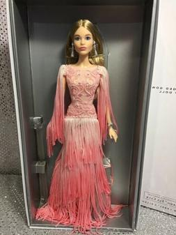2016 BLUSH FRINGED GOWN PLATINUM LABEL BARBIE DOLL FAN CLUB