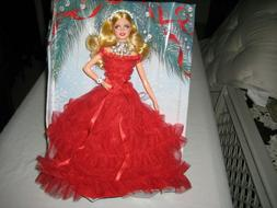 2018 Holiday Barbie in Red Dress blonde