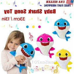 2019 Baby Shark Plush Singing Plush Toys Music Doll English