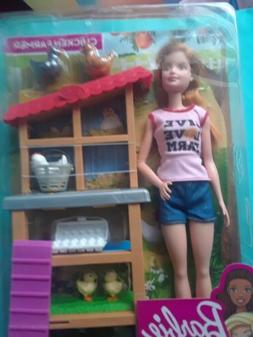 2019 Barbie Chicken Farmer You Can Be Anything Doll & Chicke