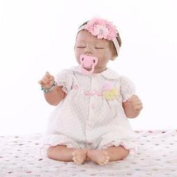 "21"" Reborn Baby Lifelike Soft Vinyl Real Life Girl Doll 52cm"