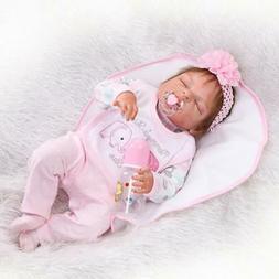 "22""Baby Handmade Lifelike Baby Girl Doll Silicone Vinyl Rebo"