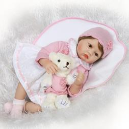 """22"""" Cute Reborn Baby Girl Doll Lifelike Newborn Toy Realisti"""