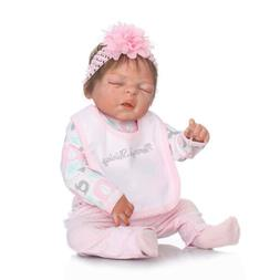 "22"" Full Body Silicone Vinyl Reborn Doll Lifelike Anatomical"