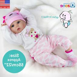 22'' Handmade Lifelike Newborn Silicone Vinyl Reborn Baby Do
