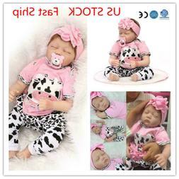 "22"" Handmade Reborn Baby Toy Newborn Lifelike Silicone Vinyl"