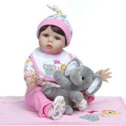 22 Inch Handmade Realistic Baby reborn Doll  Soft Body for G