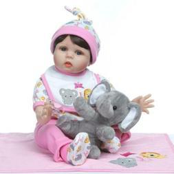 22 Inch Handmade Realistic Baby reborn Doll  Soft Body for G