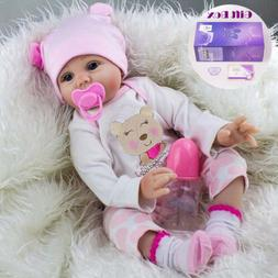 22'' Lifelike Newborn Babies Silicone Vinyl Reborn Baby Doll
