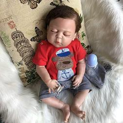 "22"" Bathable Lifelike Reborn Baby Dolls Toddler Boy Full Bod"