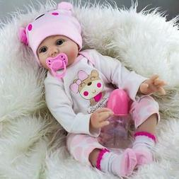 "22"" Lifelike Newborn Silicone Vinyl Reborn Gift Baby Dolls H"
