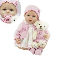 "22"" Lifelike Reborn Baby Dolls Newborn Soft Vinyl Silicone D"