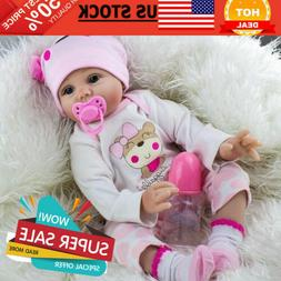 22'' Lifelike Silicone Vinyl Newborn Gift Baby Doll Handmade