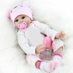 "22"" Reborn Baby Dolls Vinyl Silicone Handmade Girl Kids Gift"