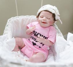 "22"" Newborn Baby Girl Lifelike Reborn Baby Dolls Girl Weight"