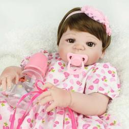 "22"" Newborn Full Vinyl Silicone Baby Girl Lifelike Babies Re"
