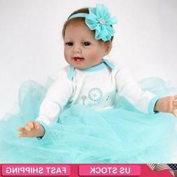 """22"""" Realistic Reborn Baby Dolls Soft Vinyl Silicone Boy Doll"""