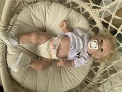 "22"" Reborn Baby Dolls Girl Full Body Silicone Reborn Toddler"
