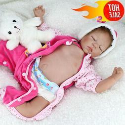 22'' Reborn Baby Dolls Handmade Lifelike Newborn Silicone Vi