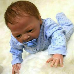 "22"" REBORN BABY DOLLS LIFELIKE VINYL SILICONE NEWBORN BOY SO"
