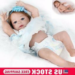 "22"" Reborn Baby Dolls Realistic Newborn Full Body Vinyl Sili"