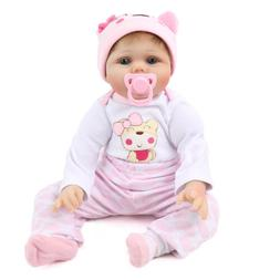 22'' Reborn Baby Dolls Lifelike Vinyl Silicone Newborn Girl