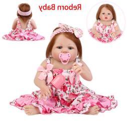 22'' Reborn Baby Silicone Vinyl Realistic Girl Doll Handmade