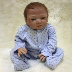 "22"" Reborn Dolls Lifelike Newborn Baby Silicone Vinyl Real B"