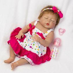 22'' Reborn Newborn Dolls Full Vinyl Silicone Girl Doll Newb