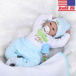 "22"" Reborn Realistic Baby Doll Silicone Vinyl Soft Gentle To"