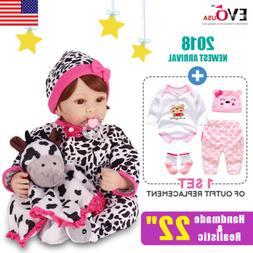 "22""Reborn Toddler Newborn Lifelike Baby Dolls Full Body Sili"