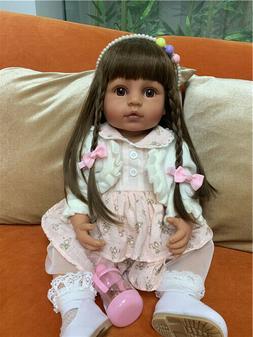 22inch Reborn Baby Dolls Tan Skin Realistic Reborn Toddler A