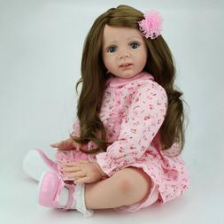 "24"" Reborn Baby Dolls Princess Toddler Girl Doll Handmade Vi"