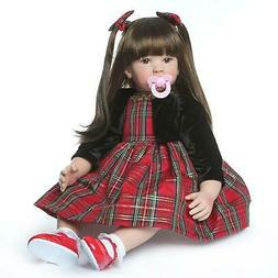 "24"" Lifelike Rebonrn Toddler Dolls Handmade Big Girl Doll So"