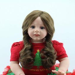 "24"" Toddler Reborn Baby Dolls Handmade Vinyl Silicone Newbor"