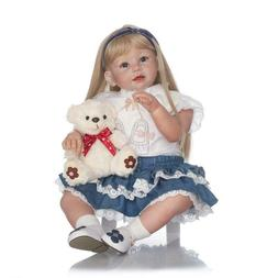 "28"" Real Doll Reborn Toddler Big Girl Realistic Reborn Baby"