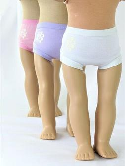 3 Pack Panties, , Pink, White Lavender for 18'' dolls by Ame
