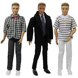 ZITA ELEMENT 3 Sets 11.5 inch Doll Boyfriend Clothes with Fo
