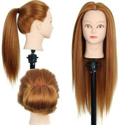 30% Real Hair Training Practice Head Mannequin Doll Hairdres