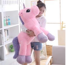32inch Large Unicorn Plush Soft Doll Stuffed Animal Horse To