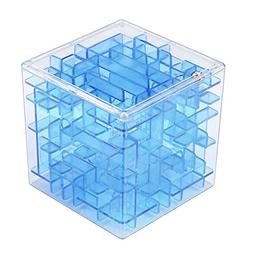 3D Cube Puzzle Maze Toy,Pausseo Magic Fun Brain Teaser Chall