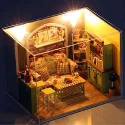 3D DIY Green Island Afternoon Tea Doll House Miniature Dollh