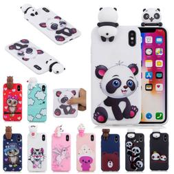 Doll Animal Pattern Cuter Rubber Phone Case Cover For iPhone