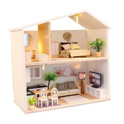 3D Doll House Wooden DIY Room With Furniture and Accessories