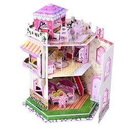 Sourcingbay 3D Puzzle Romantic Dollhouse for Girls 8 Years O