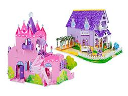 Melissa & Doug 3D Puzzle Bundle, Dollhouse and Palace